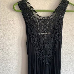 Cotton maxi dress, size small. Lacy detail on back